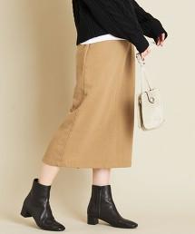BY∴ 厚棉布長版窄裙