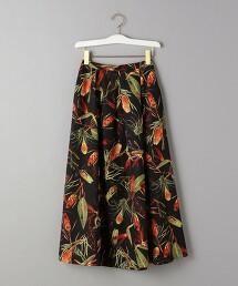 BY 植物印花 摺裙 日本製  OUTLET商品