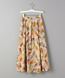 BY 植物印花 摺裙 日本製