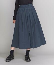 BY 塔夫塔棉鬆緊帶碎褶A字裙 日本製