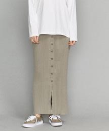 BY 羅紋 正面排釦 窄裙
