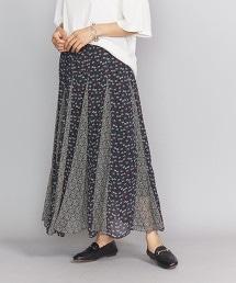 <ne Quittez pas>混合花朵長裙