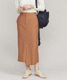 BY 素面不規則窄裙