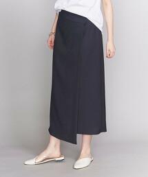 BY 仿亞麻裹裙 -可手洗- 日本製 OUTLET商品