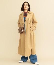 BY∴ 仿棉料 雙排釦長大衣
