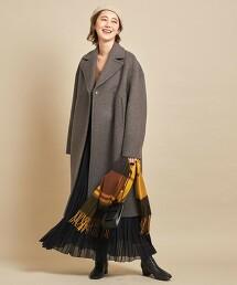 BY∴ MANTECO 雙色中長版大衣