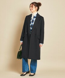 BY∴ MANTECO 雙排 休閒西裝外套/深藍