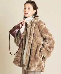 BY∴ 仿皮草中長版大衣