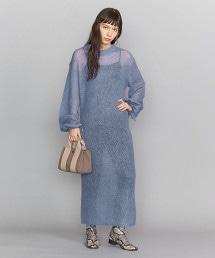BY 羊駝馬海毛彩色針織連身裙