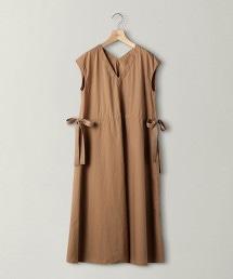 BY 高密度織V領抽繩洋裝