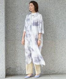 BY 紮染 開領棉質洋裝