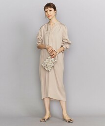 BY 府綢開領襯衫式洋裝