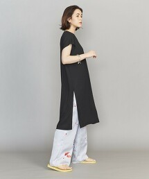BY 開衩 V領 束腰 洋裝