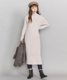 BY 羊毛壓克力鈕釦 高領羅紋洋裝