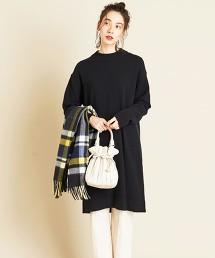BY∴ 瓶口領繭型針織連身裙
