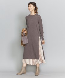 BY 羊毛嫘縈側邊開衩洋裝