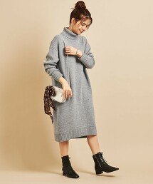 BY∴ 羊毛 高領 針織洋裝