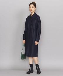 BY 柔滑素材襯衫式洋裝