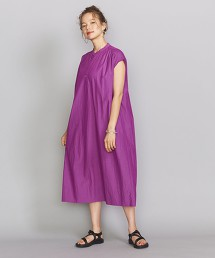BY 立領碎褶法國袖洋裝