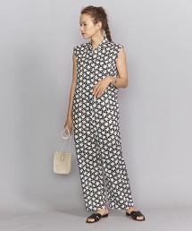 BY Liberty印花無袖襯衫式連身洋裝