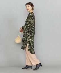 BY 花朵印花 襯衫式洋裝