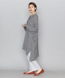 BY 格紋 立領 襯衫式洋裝