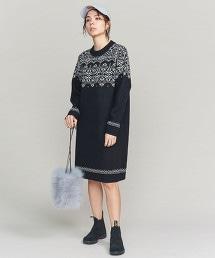 BY 北歐風圖騰提花針織洋裝