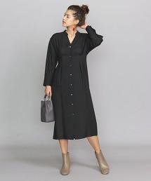 BY 斜紋織 雙摺 開襟領 洋裝