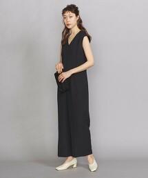 BY DRESS 雙層紗V領法式袖連身褲