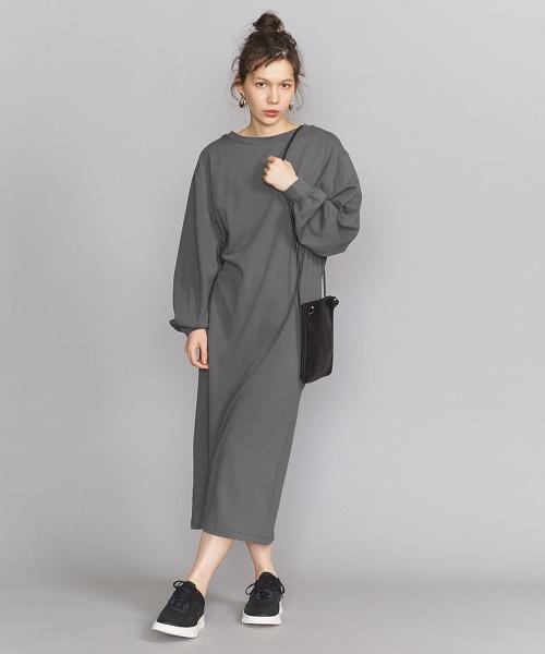 BY 純棉蓬鬆袖衛衣材質洋裝