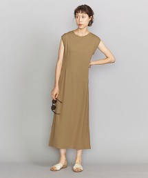 BY 毛圈布打摺腰線法國袖洋裝