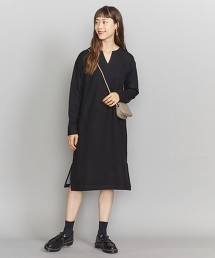 BY 雙面布料 開襟領 開衩洋裝