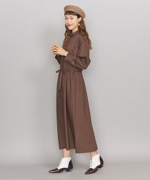 BY 綾織抽繩襯衫式洋裝