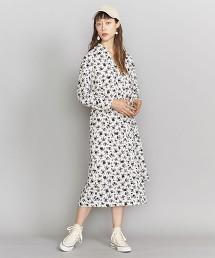 BY 黑白色小花綁帶洋裝