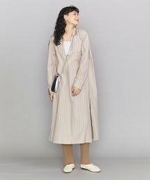 BY 高度密平織開領襯衫風洋裝