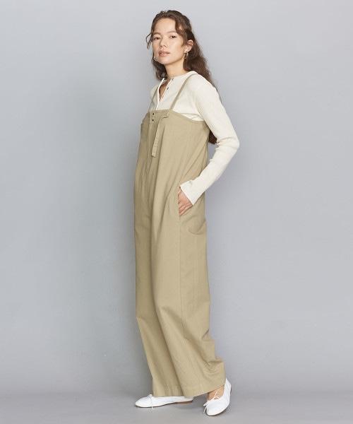BY 棉寬版吊帶褲