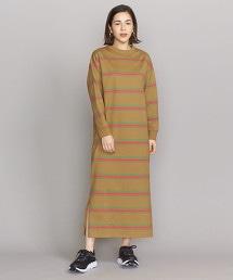 BY 複合橫條紋8分袖T恤材質洋裝