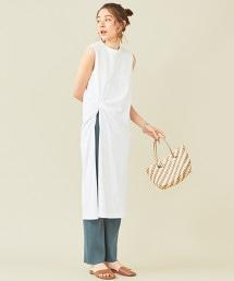 BY∴ 扭結開衩棉質洋裝