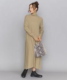BY 羅紋高領A字洋裝