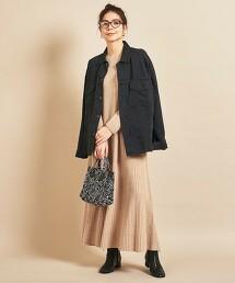 BY∴ 全成型 羅紋材質 A字針織洋裝 日本製
