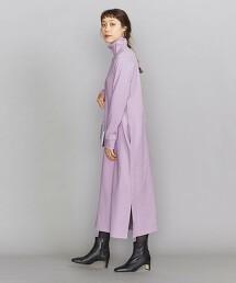 BY 羅紋抽針 I字形 高領長洋裝2 日本製