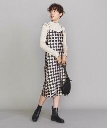 <TheOpen Product>LOGO黑白格洋裝