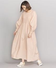 <KiiRA>縮折繡背開領洋裝