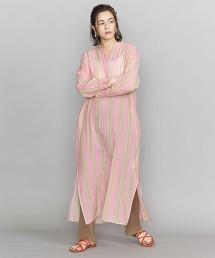 <ne Quittez pas>直條紋襯衫式洋裝