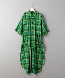 <SUPP NO ONE ELSE>格紋襯衫式洋裝 日本製