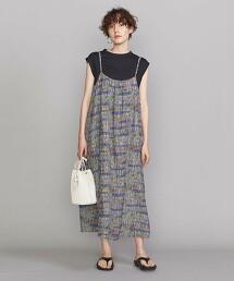 【特別訂製】<TOWN>縲縈印花細肩帶連身裙 日本製