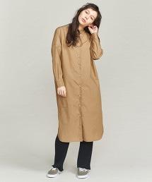 BY 高密度平織襯衫式洋裝