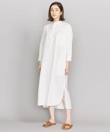 BY 棉質高密度平織寬版襯衫式洋裝