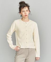 BY 純棉羅紋圓環壓釦對襟外套
