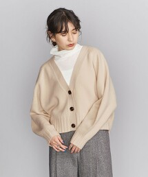 BY 5G 羊毛短版V領對襟外套